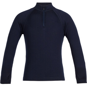 Icebreaker 260 Tech Langarm Half Zip Shirt Kinder midnight navy